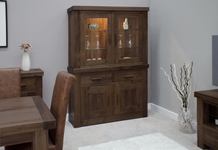 chunky walnut furniture dining room dresser display cabinet ebay