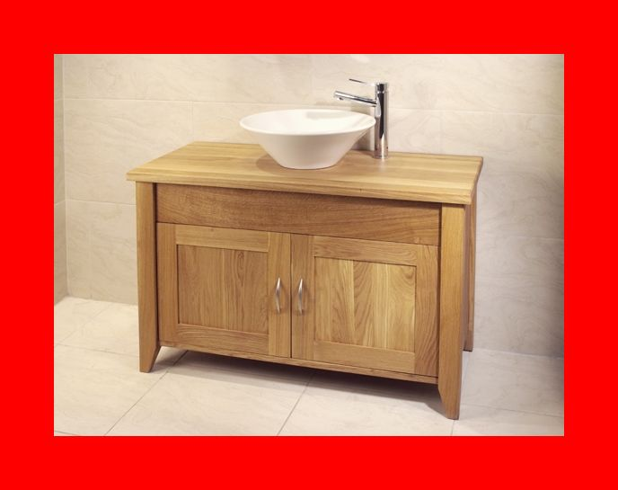 details about venice solid oak bathroom large cabinet washstand