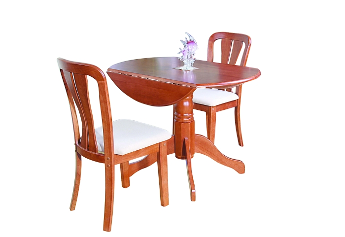 Bramley Dining Room Furniture Round Drop Leaf Dining Table And Four Chairs Se