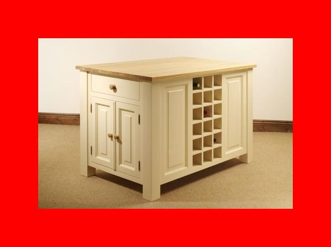 Hampton Cream Painted Pine Furniture Kitchen Island Unit EBay