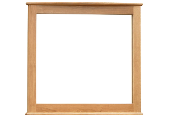 Vienna solid oak furniture large square wall mirror ebay for Big square wall mirror