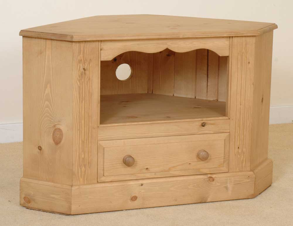 Malvern solid pine furniture corner tv cabinet unit ebay for Pine furniture