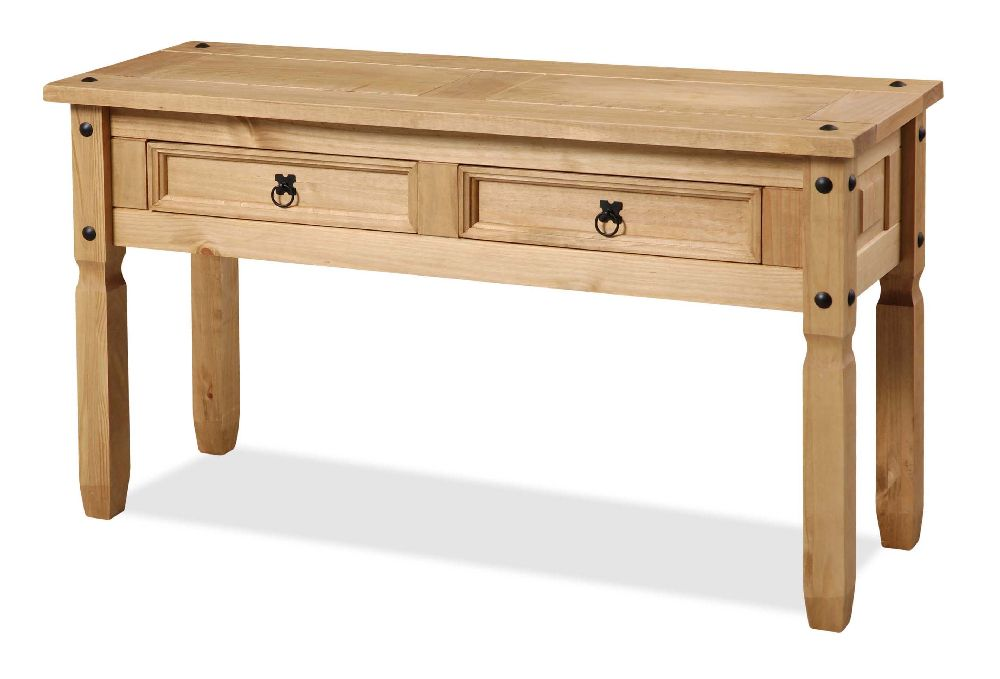 mexican solid pine furniture console table ebay