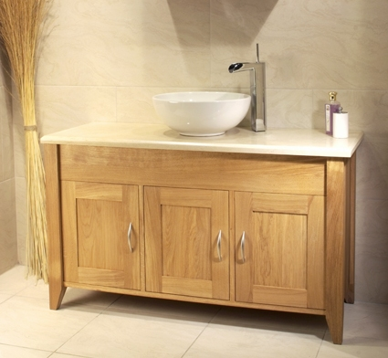 details about venice solid oak bathroom marble top cabinet washstand