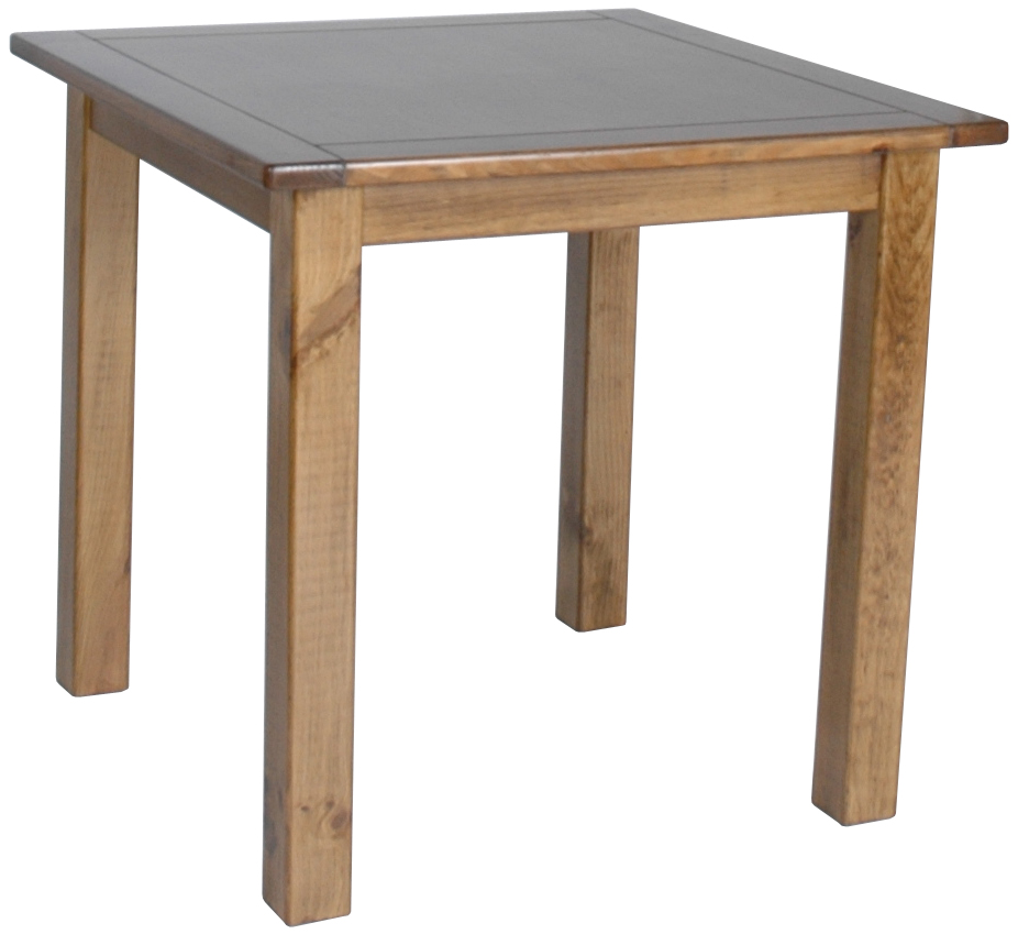 Fairway pine dining room furniture square dining table ebay for Pine dining room table