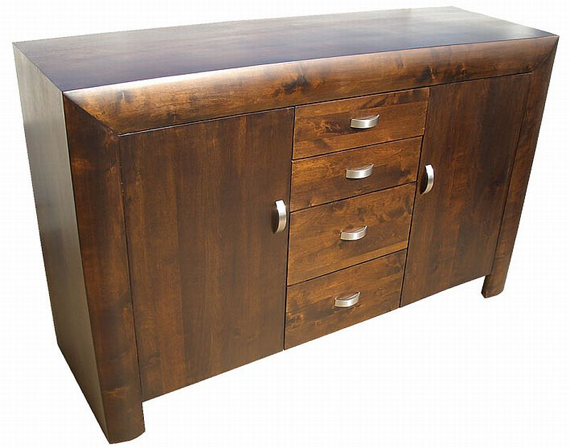 Michigan Dark Wood Living Dining Room Furniture Large Modern Sideboard Ebay