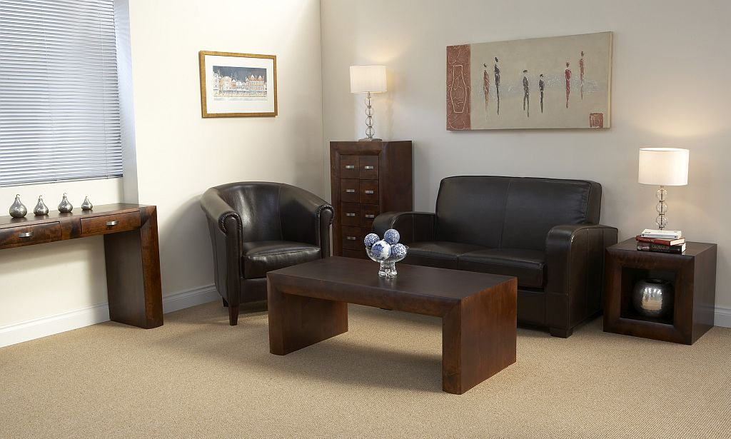 details about michigan dark wood living room furniture coffee table