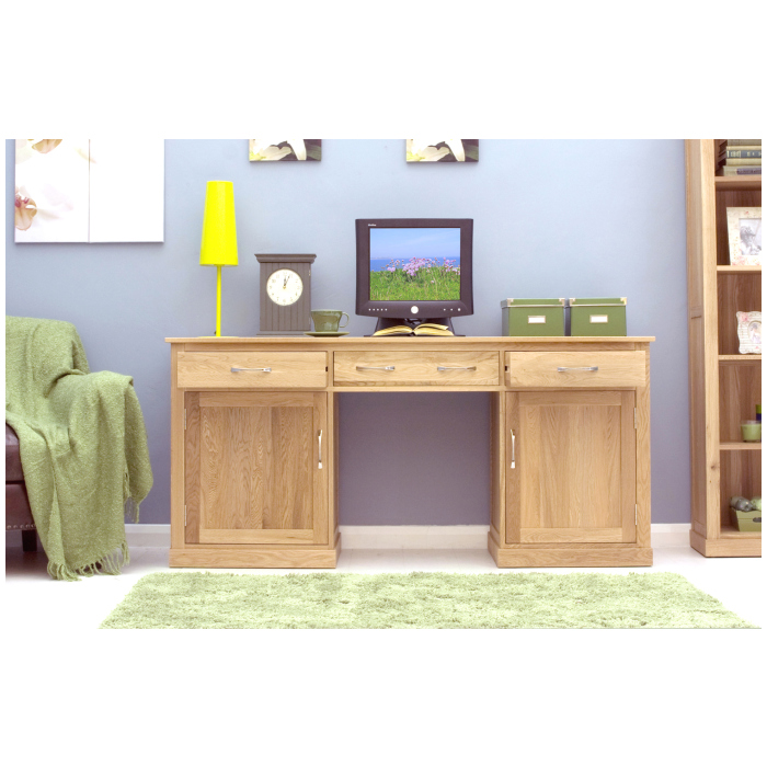 mobel solid oak furniture large puter hideaway desk  ebay