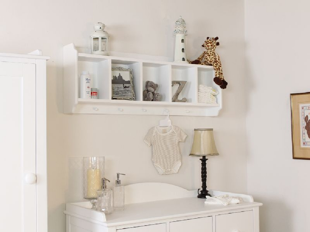 nutkin white painted childrens bedroom furniture wall mounted storage