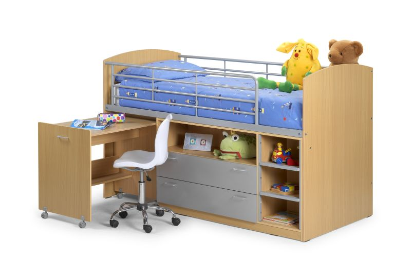 Mardale childrens furniture bunk bed drawers and desk ebay - Loft bed with drawers underneath ...