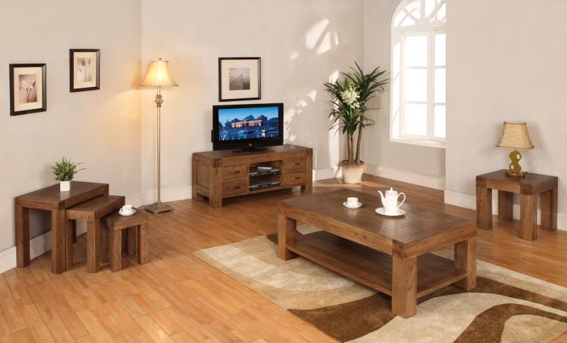 Hena Solid Oak Living Room Furniture Widescreen Tv Dvd Cabinet. Dark Oak Living Room Furniture Uk   Nakicphotography