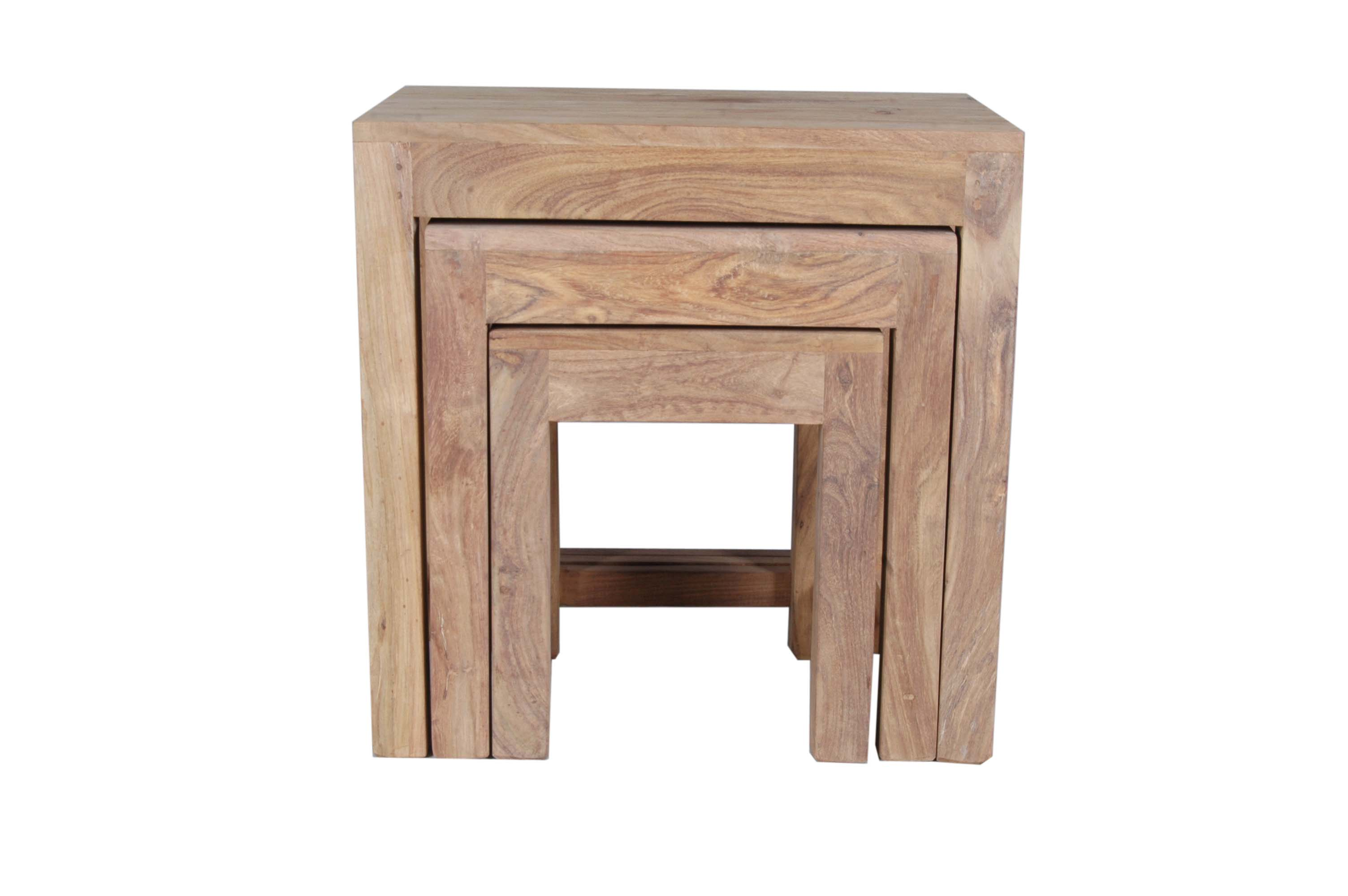 Jaipur Sheesham Furniture Nest Of Three Coffee Tables Ebay