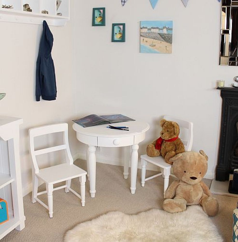 nutkin childrens white painted bedroom ash furniture chair ebay