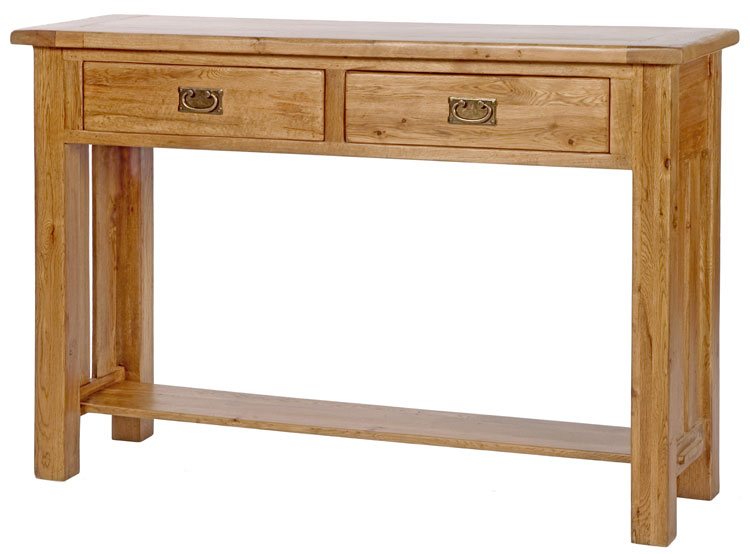 ... hallway furniture small two drawer storage console hall table | eBay