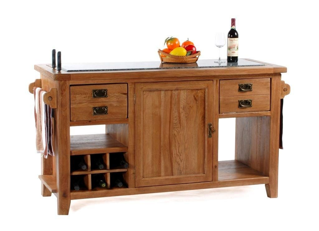 Florence Solid Rustic Oak Furniture Large Granite Top Kitchen Island Unit EBay