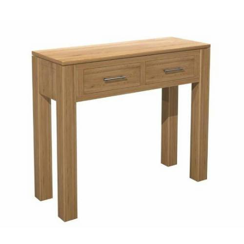 Cotswold solid oak modern hallway furniture two drawer - Contemporary console tables with drawers ...