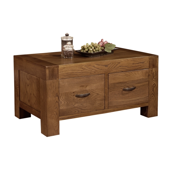 sandringham solid dark oak living room furniture storage coffee table