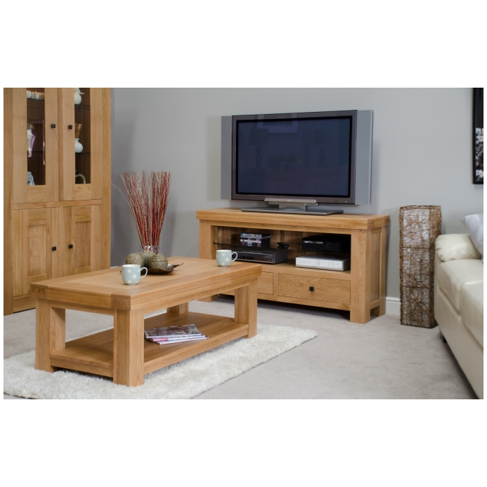 Phoenix Solid Oak Living Dining Room Furniture 2 Door 2
