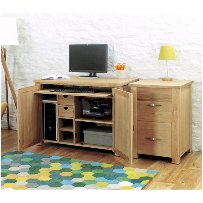 aston oak contemporary furniture hidden home office