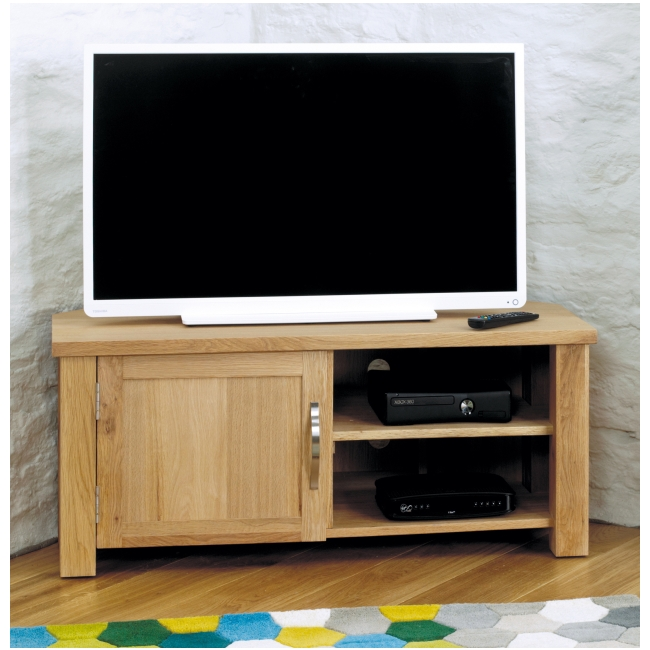 Aston Oak Contemporary Furniture Corner Tv Dvd Cabiinet