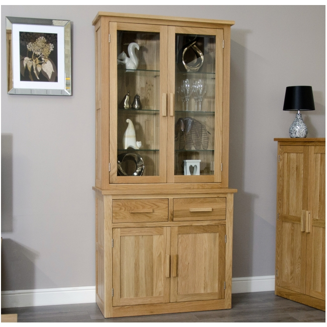 Arden solid oak dining room furniture small dresser glazed for Dining room display cabinets