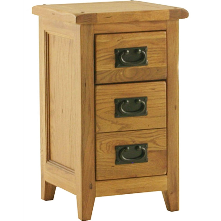 Tuscany solid oak furniture small bedroom bedside table