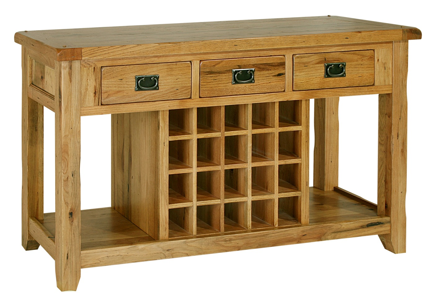 kitchen console table Tuscany solid oak hallway furniture console hall table with wine rack