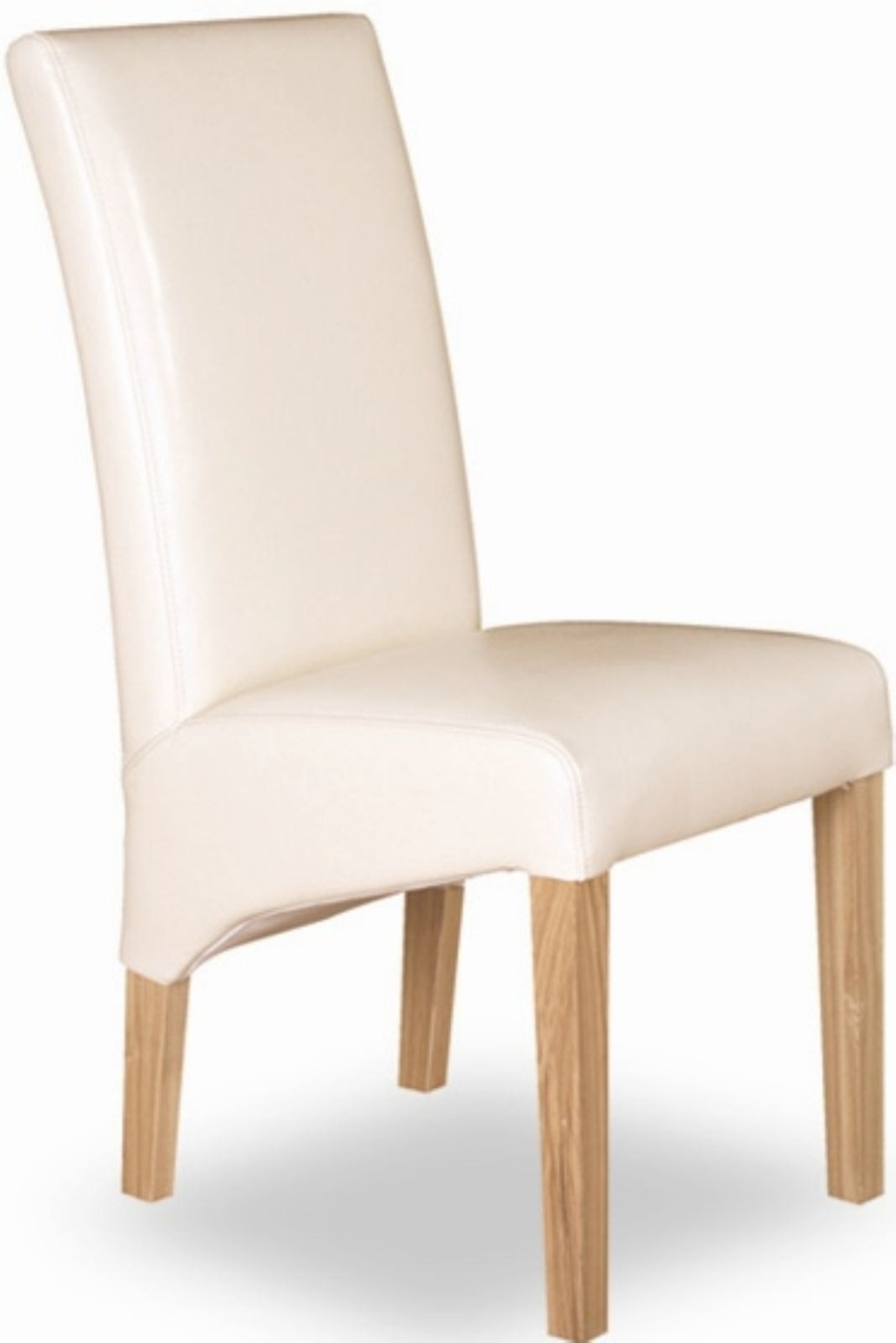 Tuscany Solid Oak Furniture Set Of Two Cream Leather