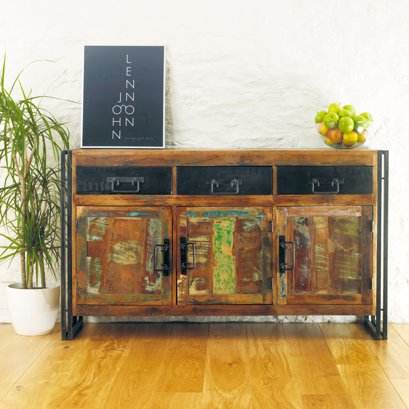 Agra Solid Reclaimed Wood Large Living Dining Room Buffet Sideboard EBay