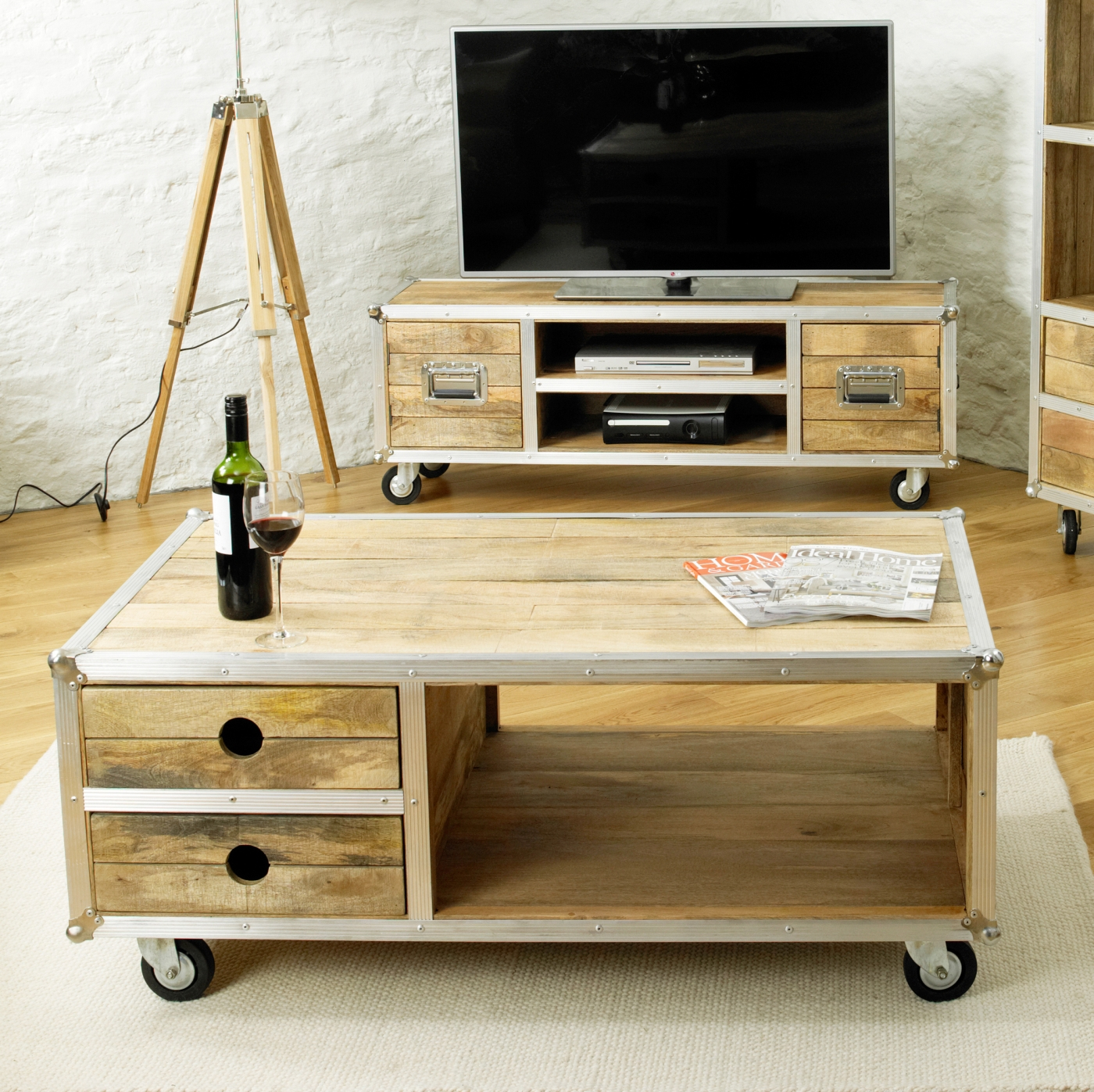 Cameron Coffee Table: Cameron Urban Chic Wood Furniture Living Room Storage
