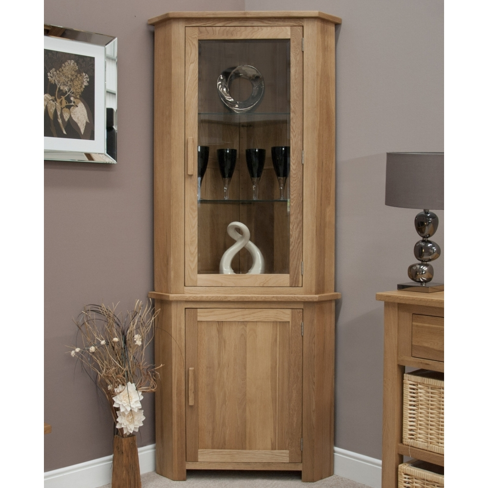 wooden cabinets for living room boston corner display cabinet with light solid oak living 22394