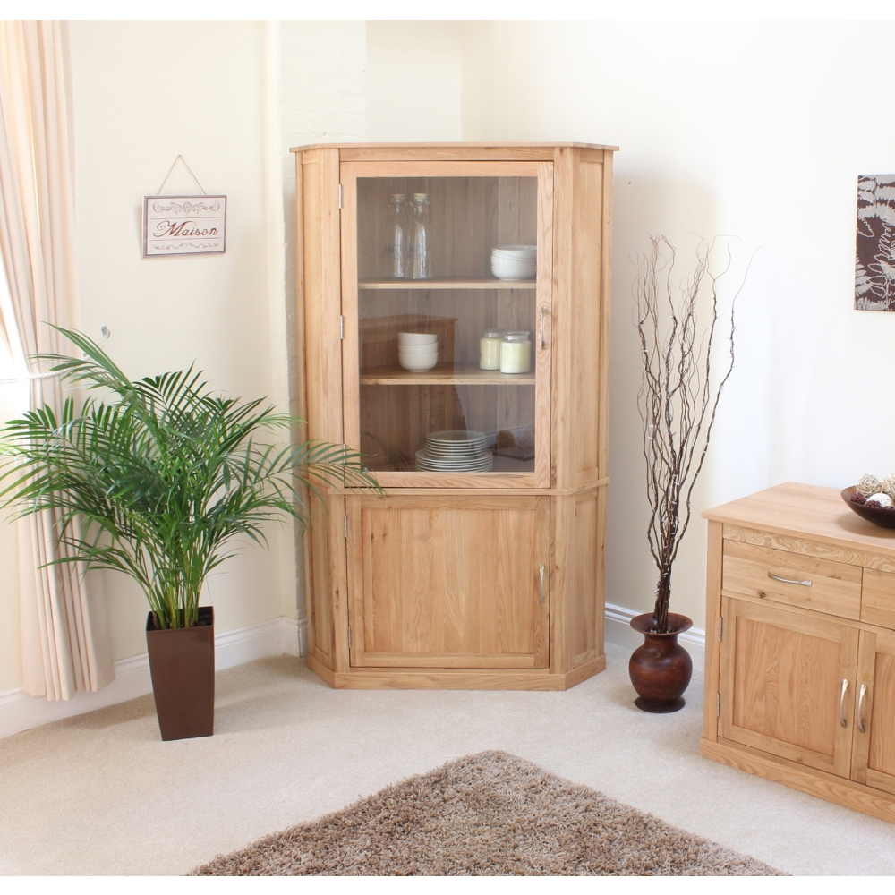 oak display cabinets for living room mobel corner display cabinet cupboard glazed solid oak 26908