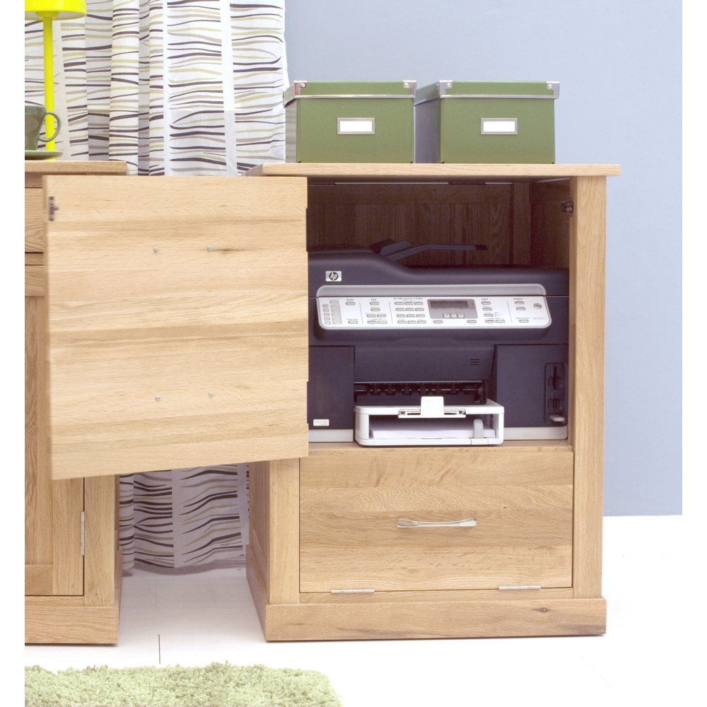Mobel Printer Computer Storage Cabinet Cupboard Solid Oak Office Furniture