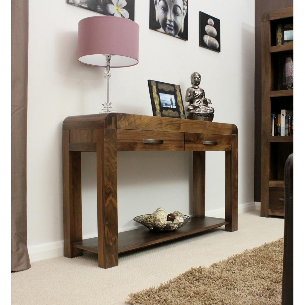 dark wood hall table. Shiro Console Hall Table Solid Walnut Dark Wood Hallway Furniture O