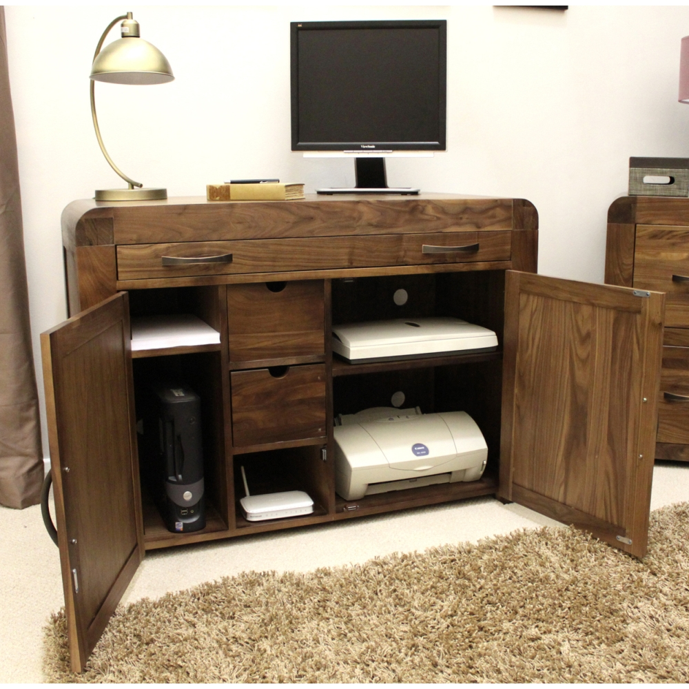 hideaway furniture. Shiro Desk Hidden Home Office Hideaway Computer Solid Walnut Dark Wood Furniture Y