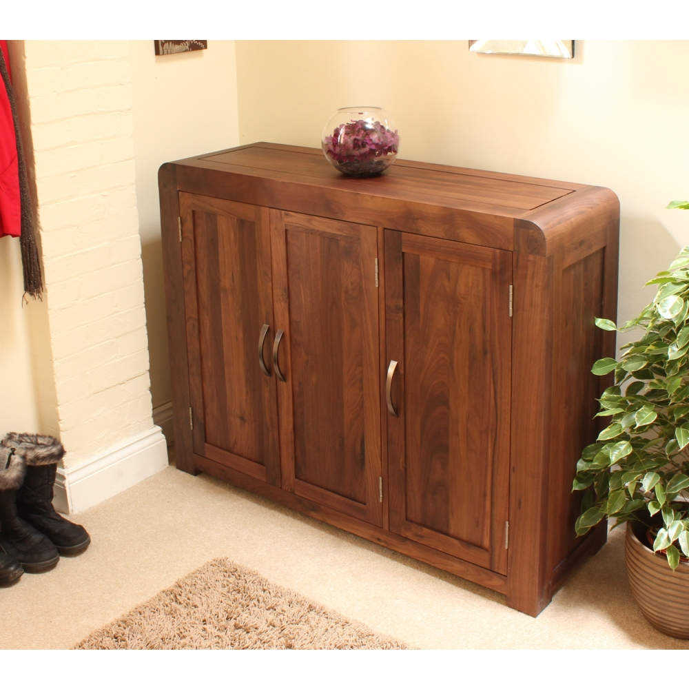 Shiro shoe storage cabinet cupboard rack large solid walnut dark wood furniture & Shiro shoe storage cabinet cupboard rack large solid walnut dark ...