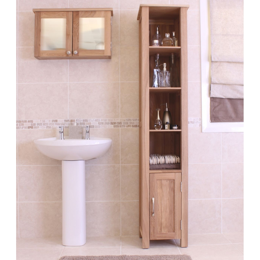 how to install a bathroom cabinet mobel bathroom cabinet open storage cupboard solid oak 17020