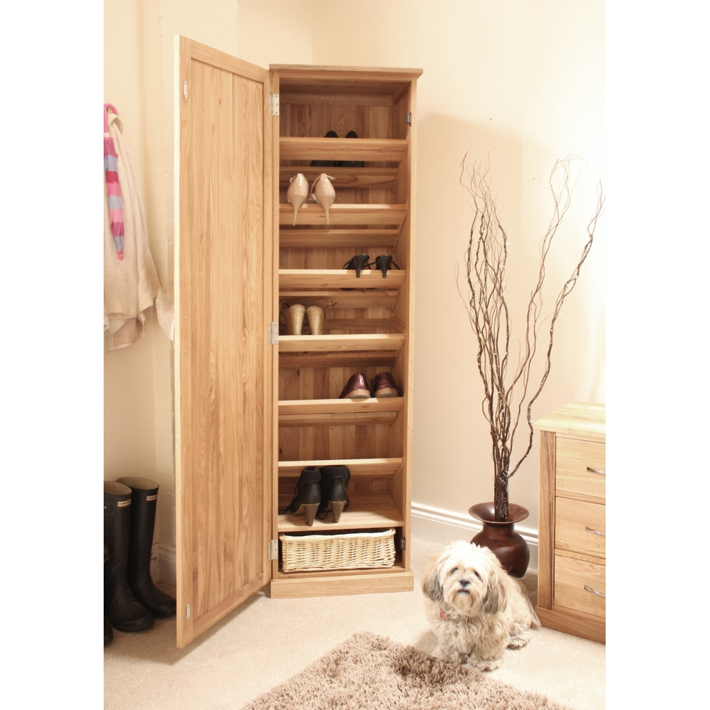 exciting hall cabinets furniture | Mobel shoe cupboard rack tall storage cabinet solid oak ...