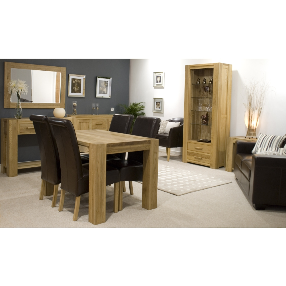 Michigan Small Chunky Sideboard Solid Oak Living Dining Room Furniture