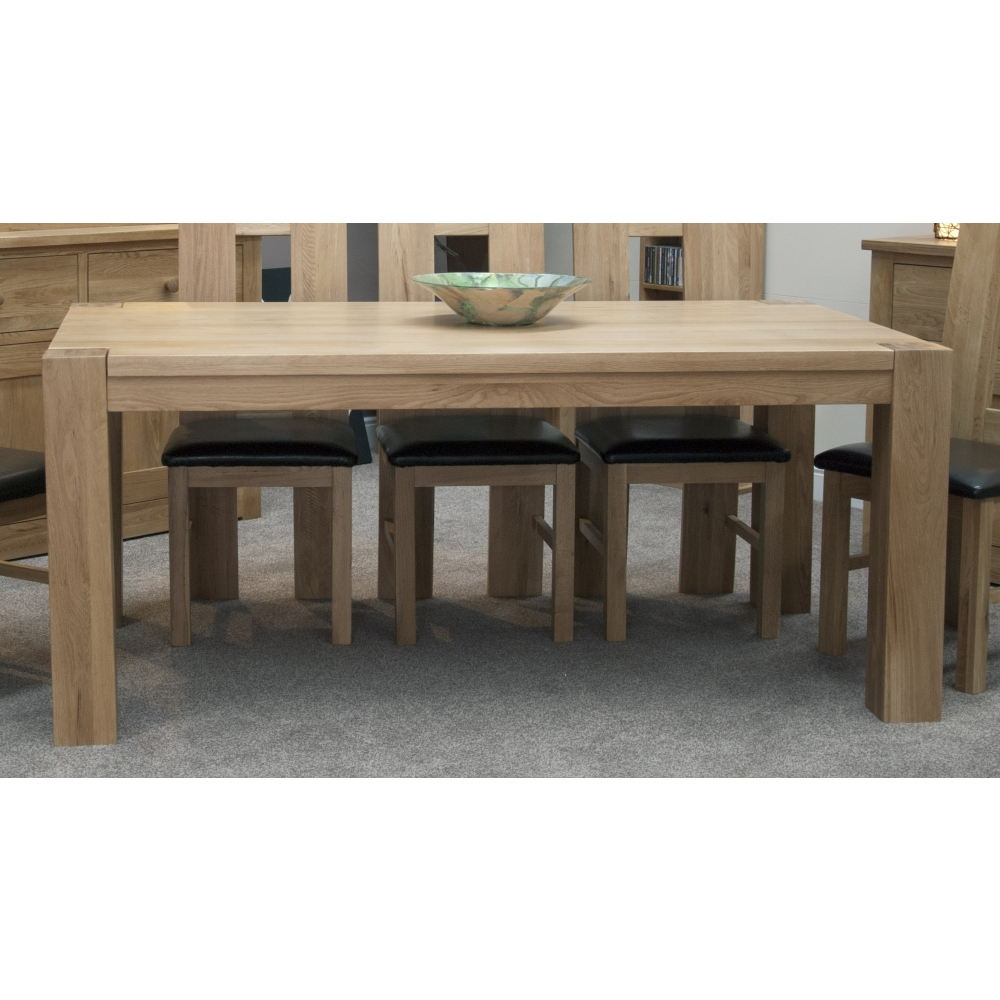 Dining Room Furniture Michigan: Michigan Large Dining Table Chunky Solid Oak Furniture