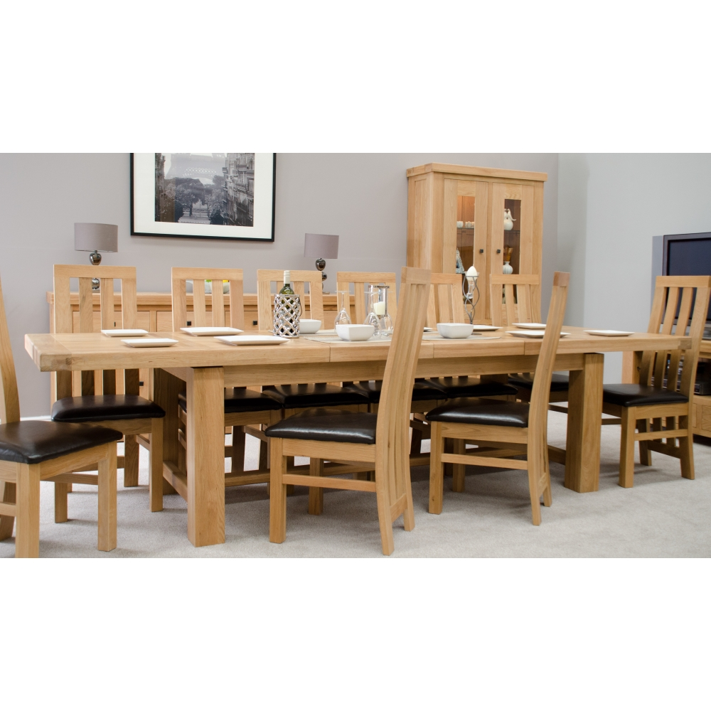 Alaska Large Grand Extending Dining Table & 12 Chairs Set