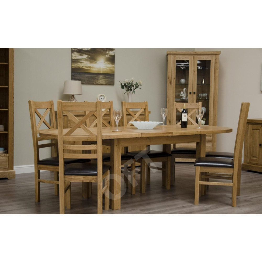 Montero Oval Extending Dining Table And Six Chairs Set