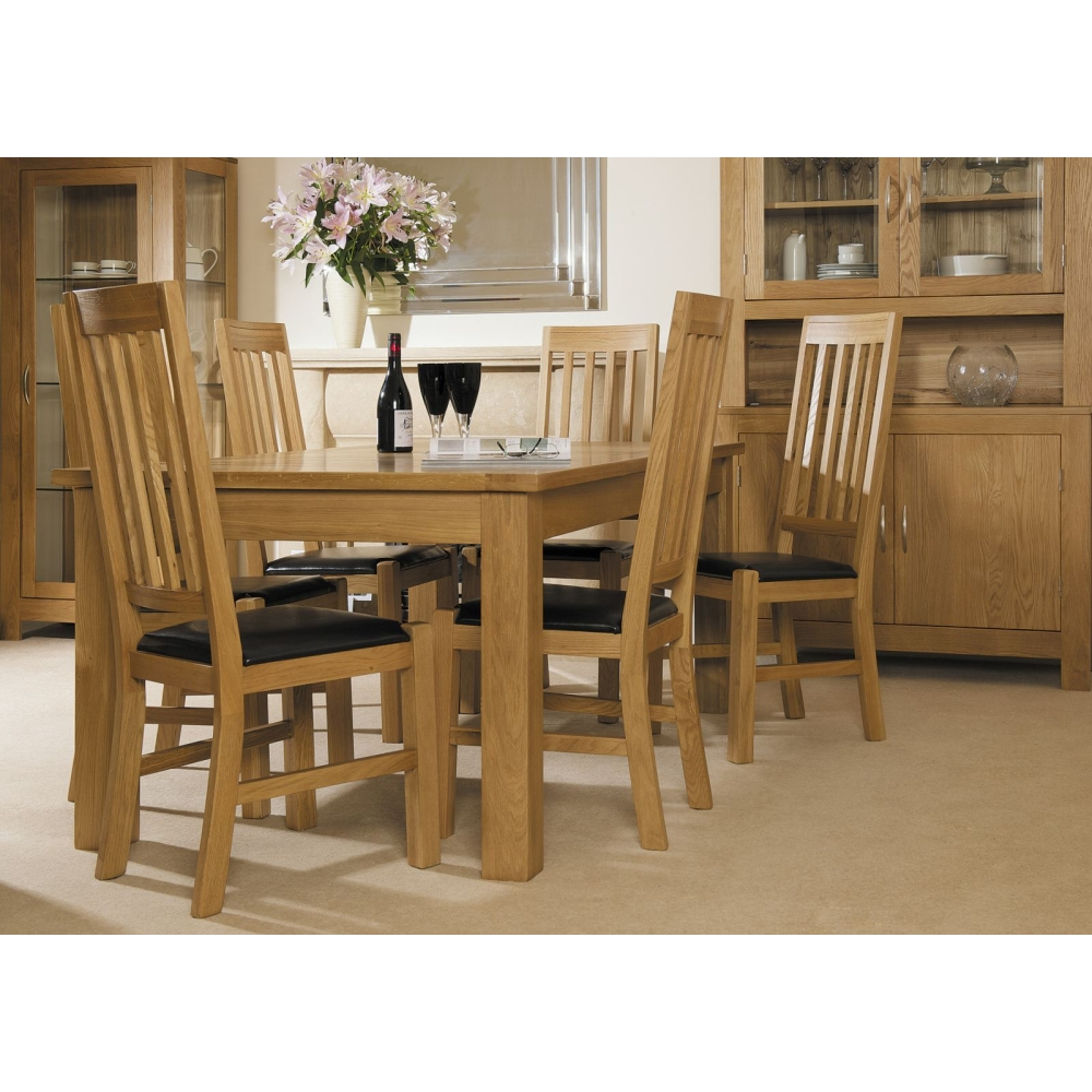 Landon Set Of Eight Dining Chairs Solid Oak Dining Room