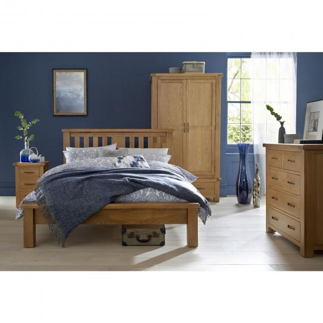 Fine Details About Amersham Solid Oak Bedroom Furniture Single Wardrobe With Drawer Home Interior And Landscaping Oversignezvosmurscom