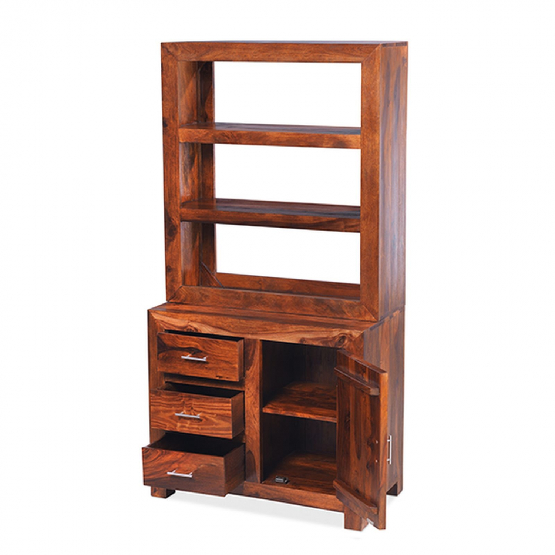 Mysore Solid Sheesham Furniture Small Multi Shelf Cutlery Dresser