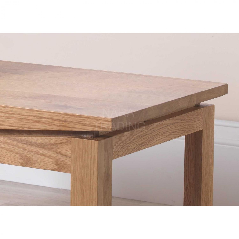 Crescent Solid Oak Living Room Modern Furniture Coffee
