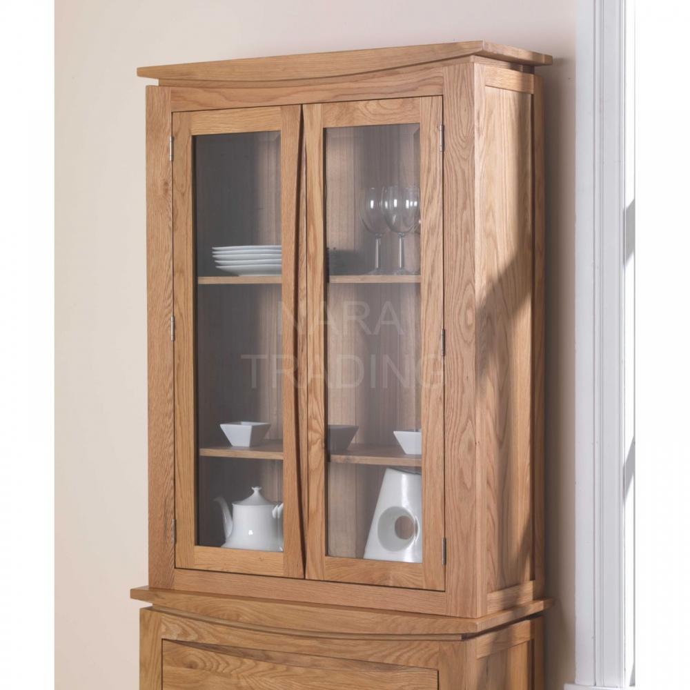 Crescent solid oak dresser display cabinet dining room ...