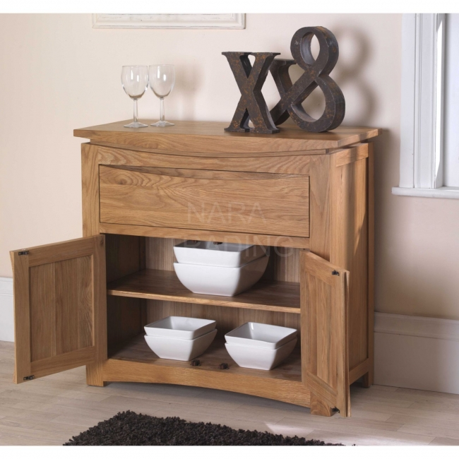 Mobel Solid Oak Dining Room Furniture Small Modern Dining: Crescent Solid Oak Dining Living Room Furniture Small