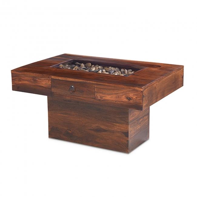 Nepal Solid Sheesham Indian Furniture Pebble Coffee Table