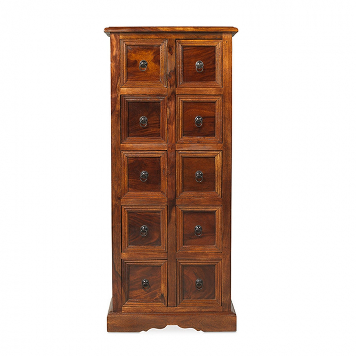 Bengal solid sheesham indian furniture CD storage cabinet chest of ...